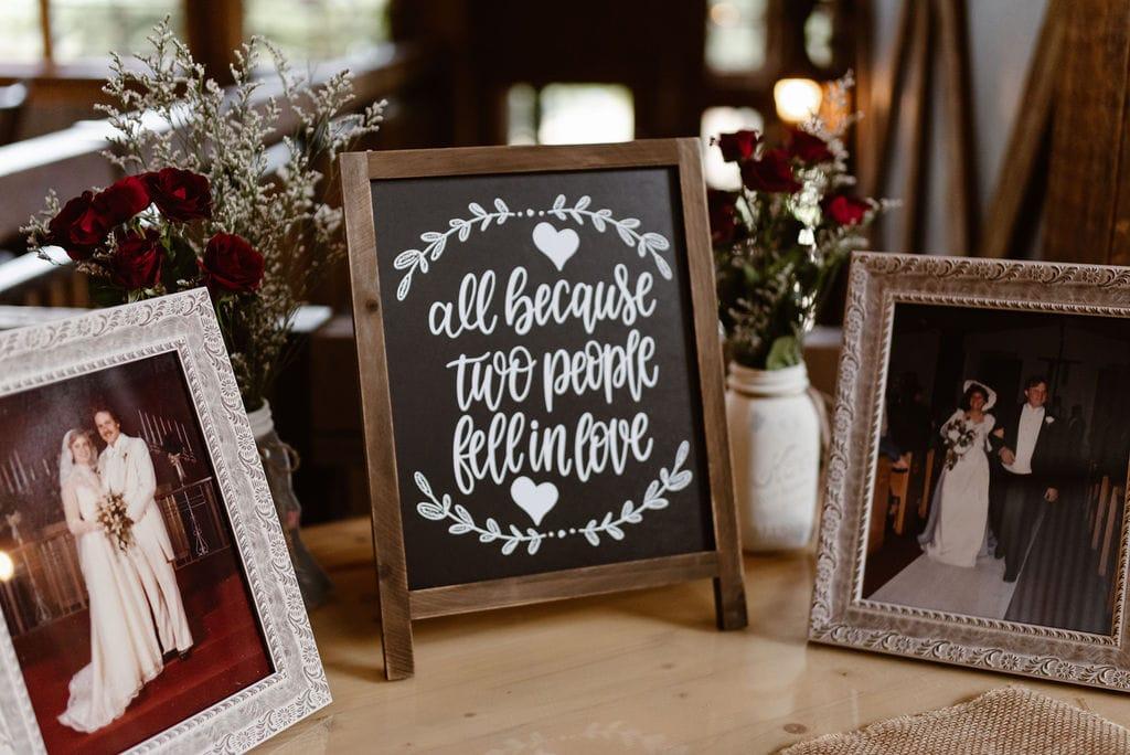 Ten mile station wedding reception