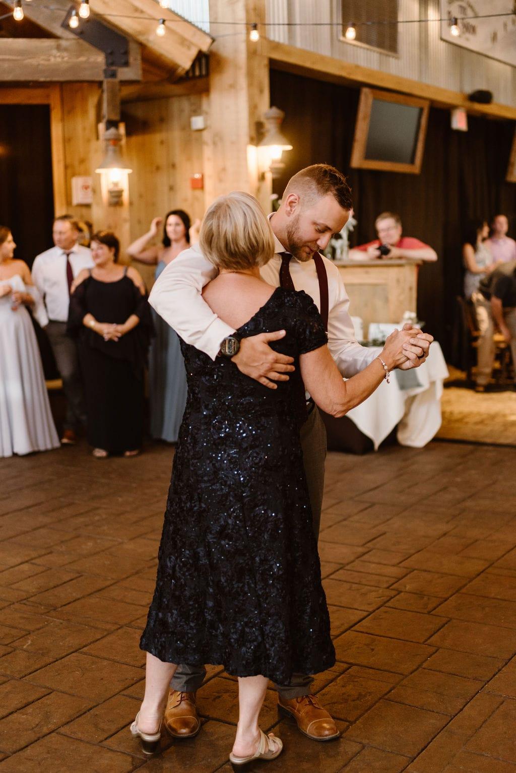 Mother Son Dance at Ten Mile Station Wedding
