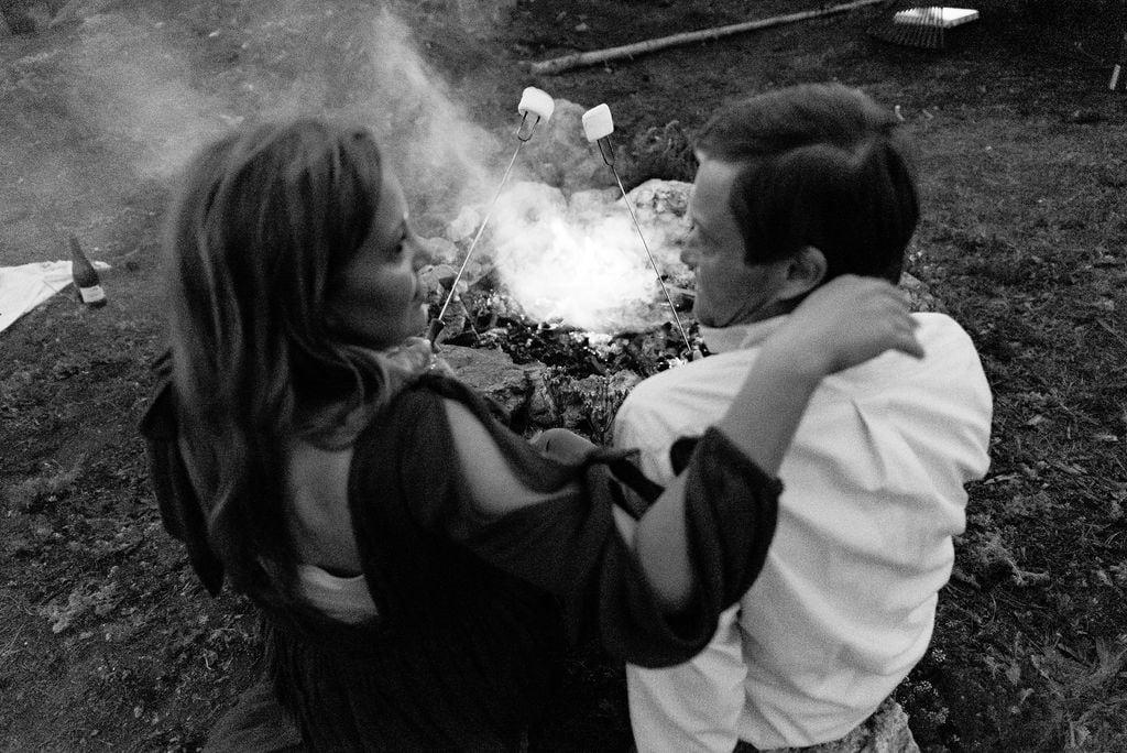 Colorado Elopement with a campfire