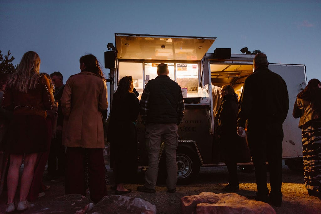 Food Truck at Windy Point Campground Wedding Reception