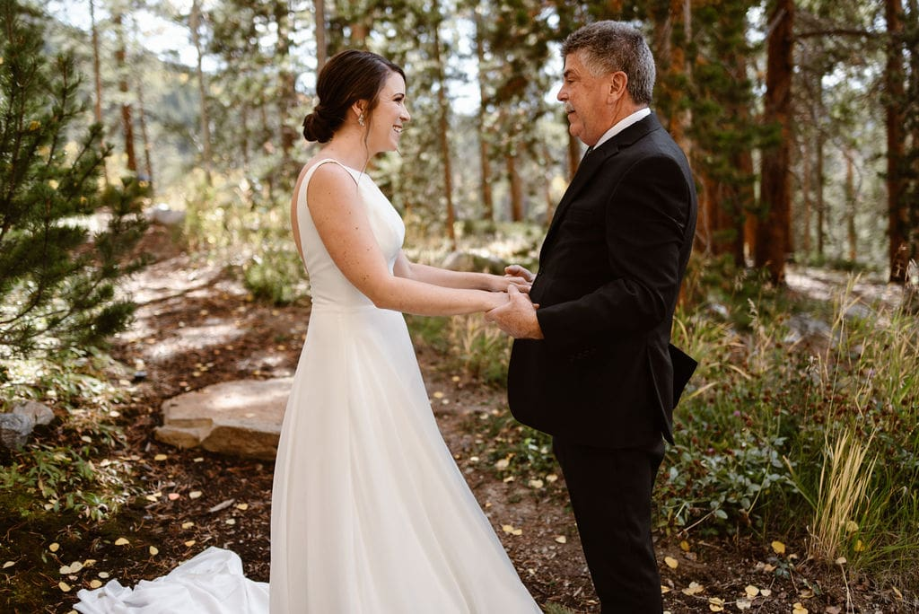 Father Daughter wedding day first look