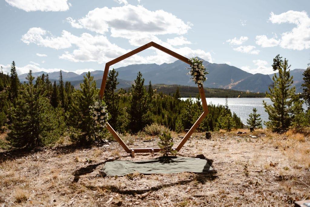 Unique Outdoor Colorado Wedding Ceremony Arch