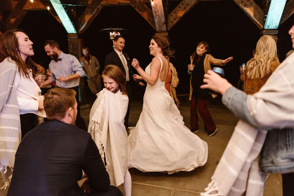 Windy Point Campground Wedding Reception