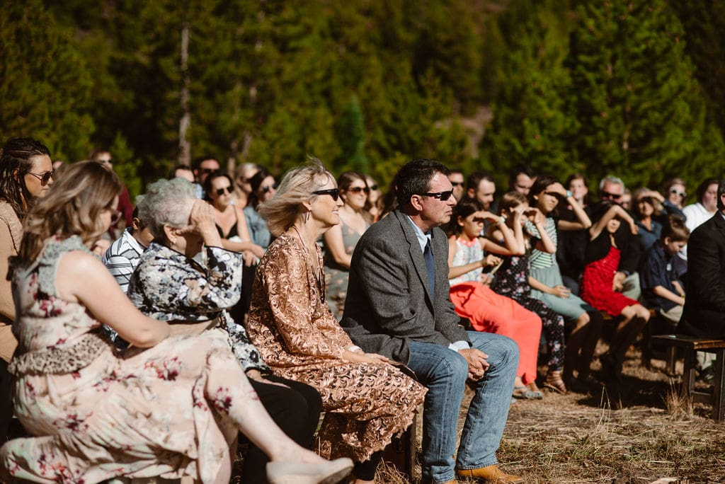 windy point campground wedding ceremony on Lake Dillon