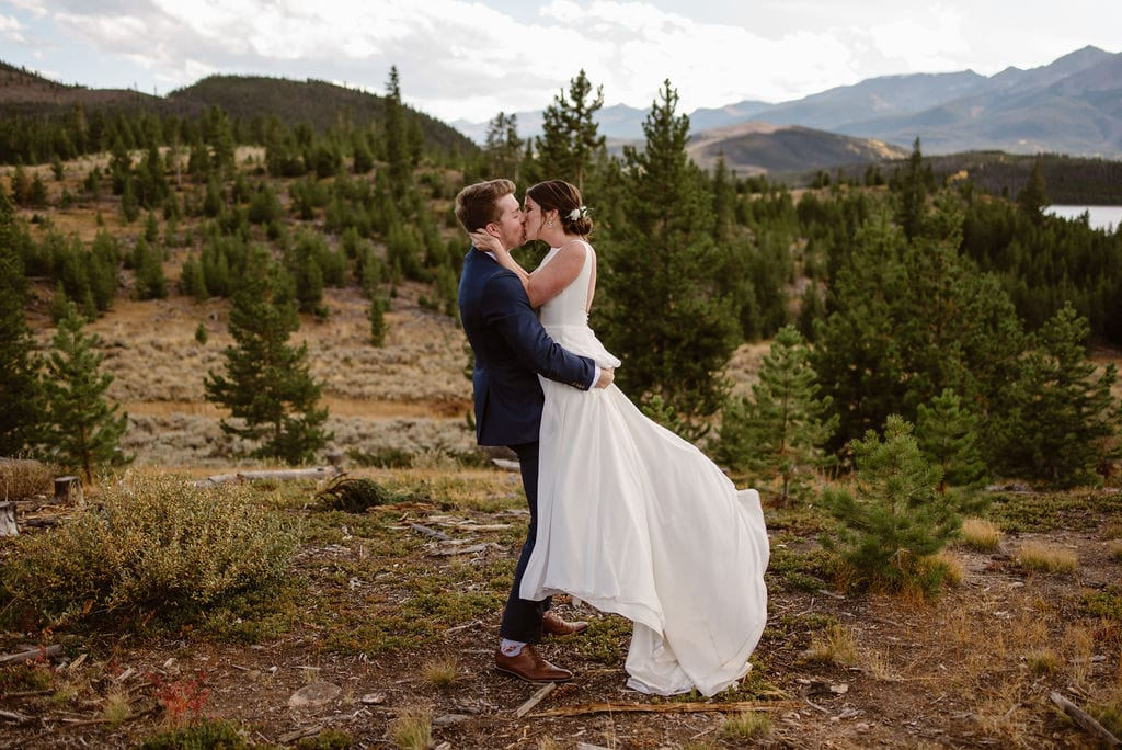 Romantic Mountain Wedding at Windy Point Campground in Breckenridge
