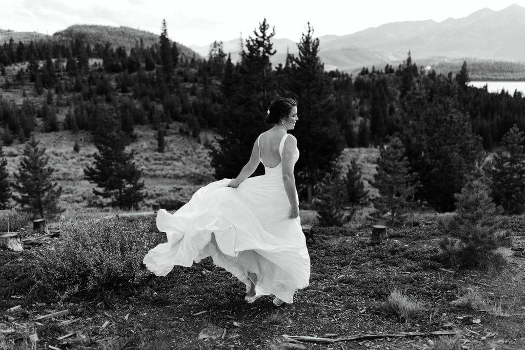 Wind Blown Bridal Portraits at Lake Dillon