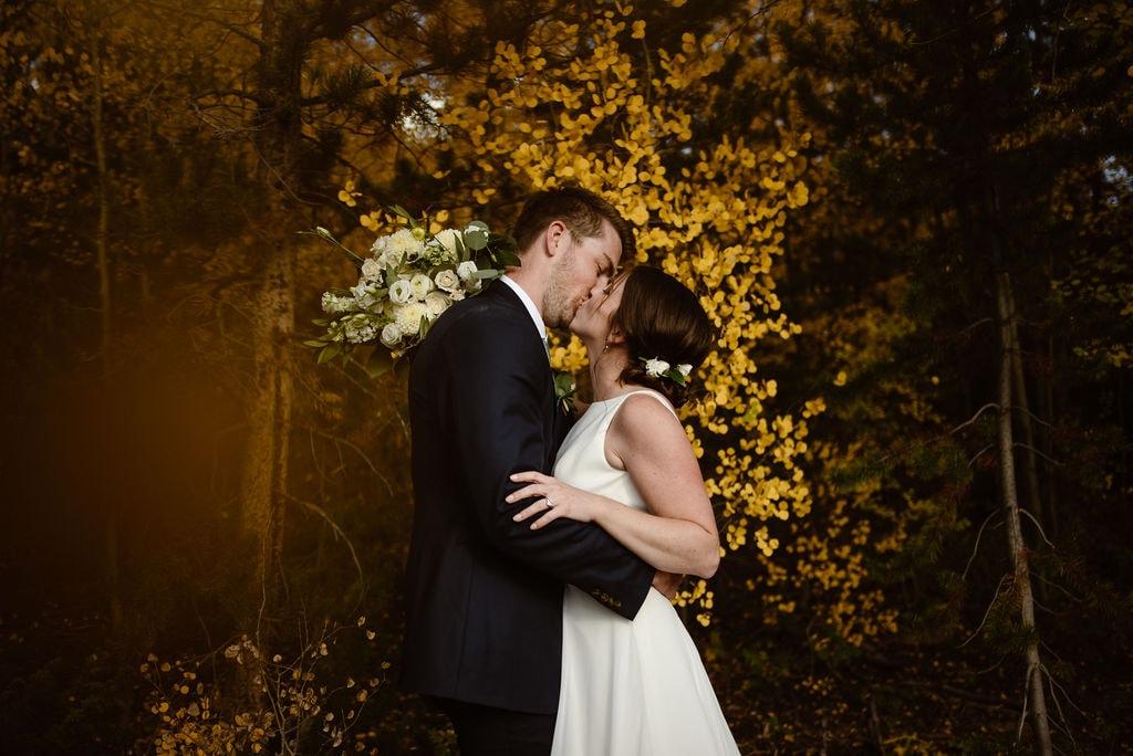 Fall Wedding at Breckenridge Wedding Venue Windy Point Campground