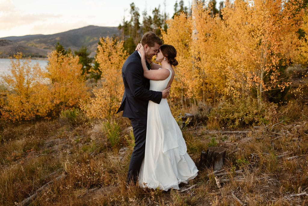 Bride and Groom Wedding Day at Windy Point Campground
