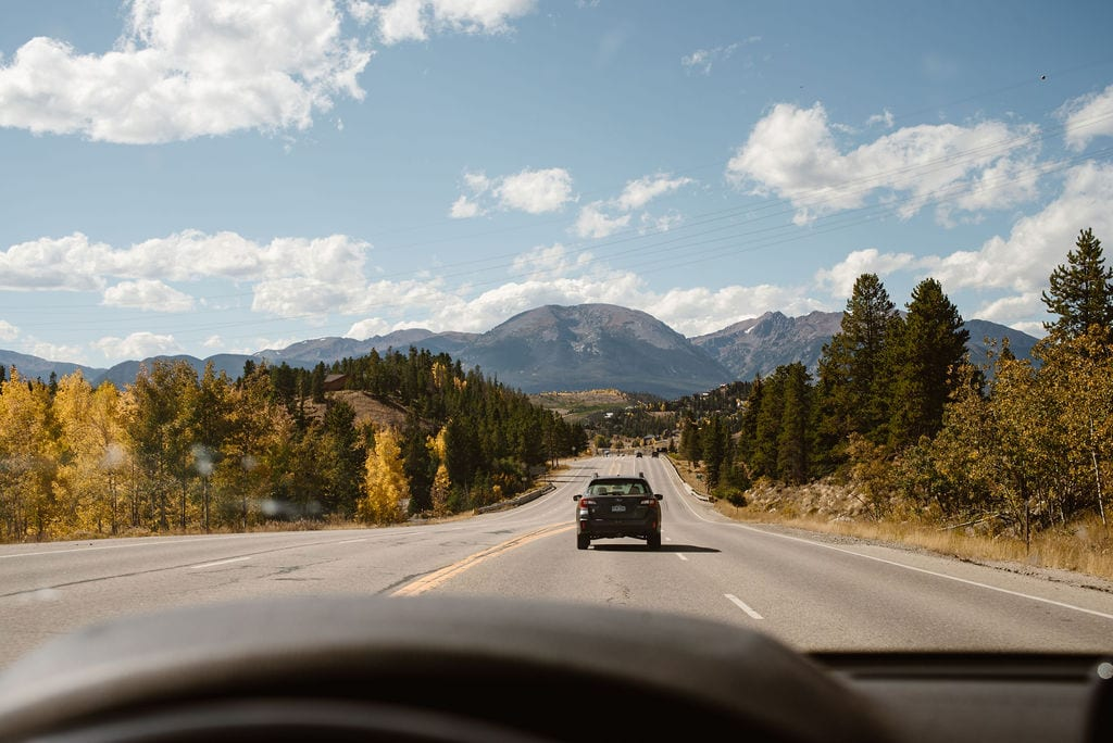 Driving to windy point campground from Keystone, CO