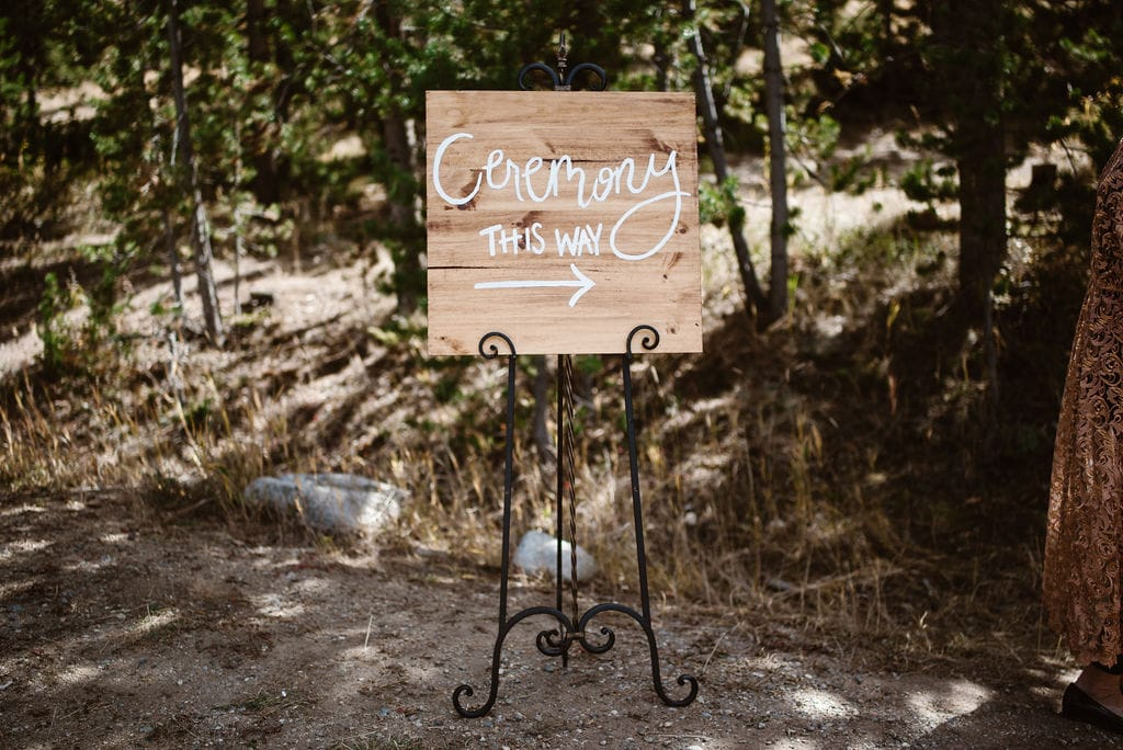 Campground Ceremony Welcome Sign