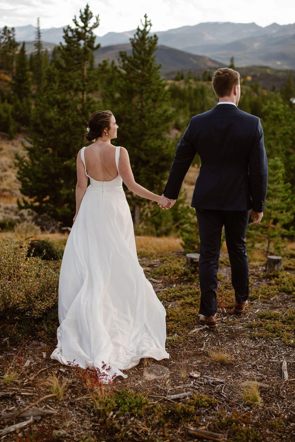 Romantic Bride and Groom Mountain Portraits at Lake Dillon in Colorado
