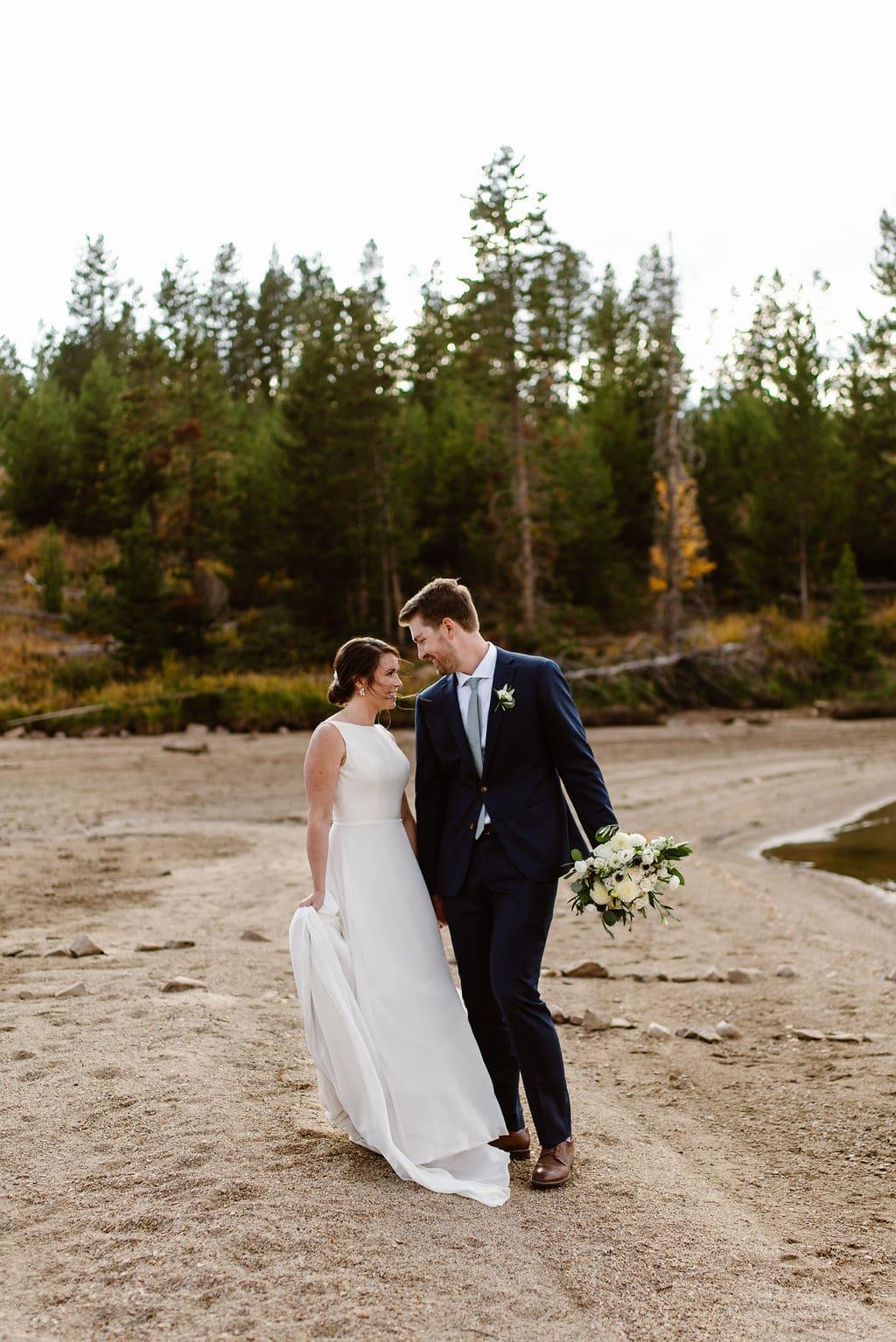 Colorado Campground Wedding Day Portraits