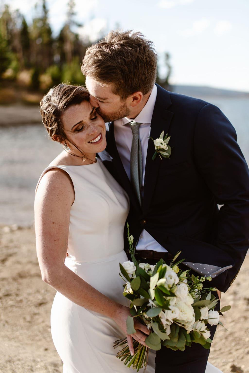 Bride and Groom Portraits at Lake Dillon