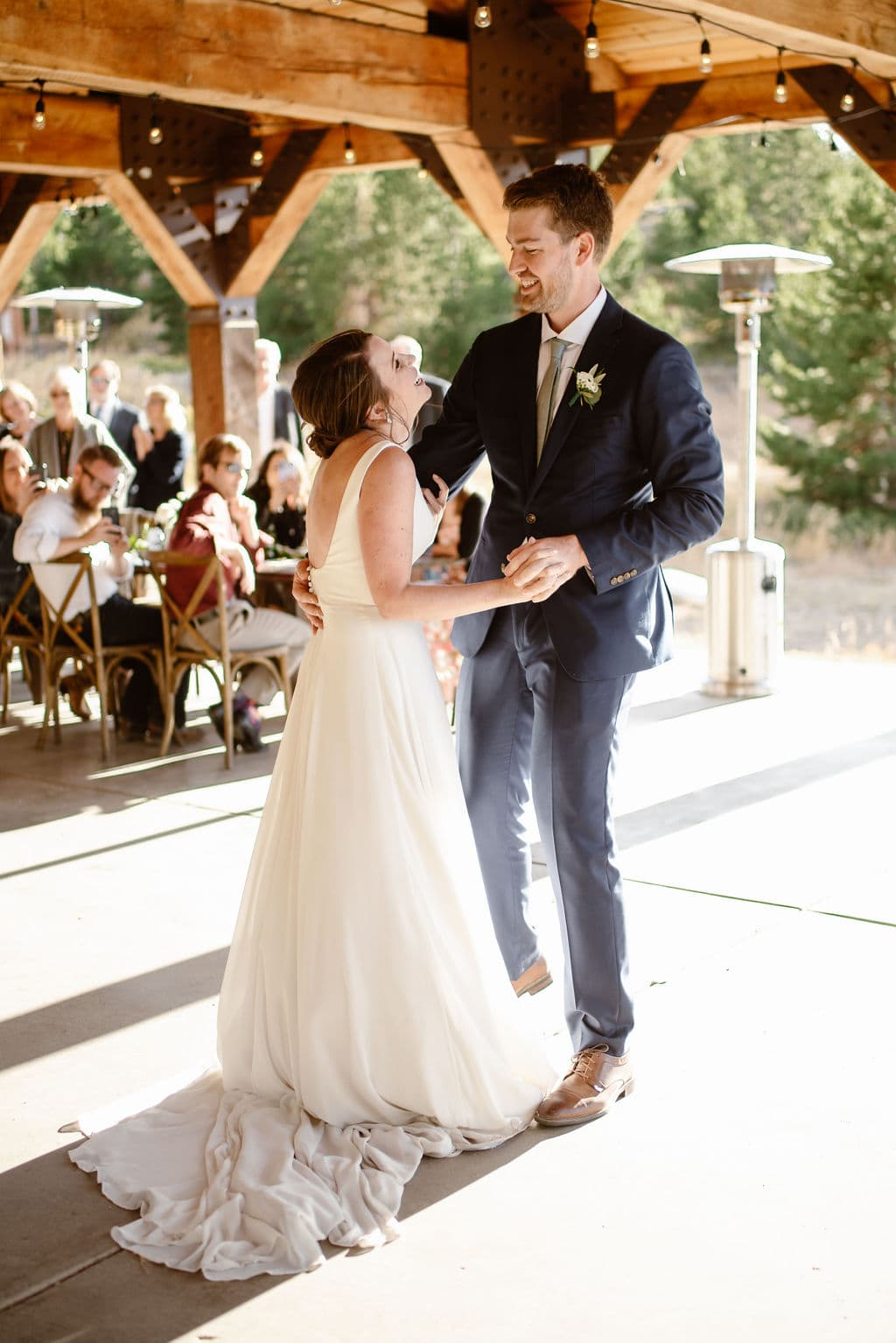 Bride and Groom First Dance at Windy Point Campground