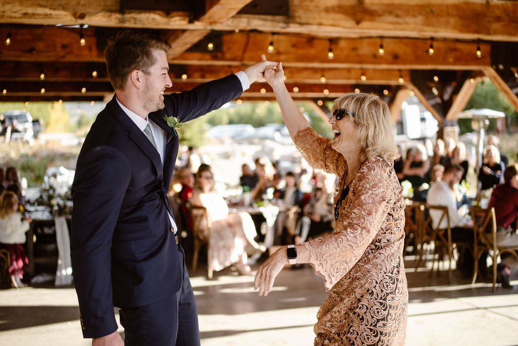 First Dances at Windy Point Campground Wedding Reception