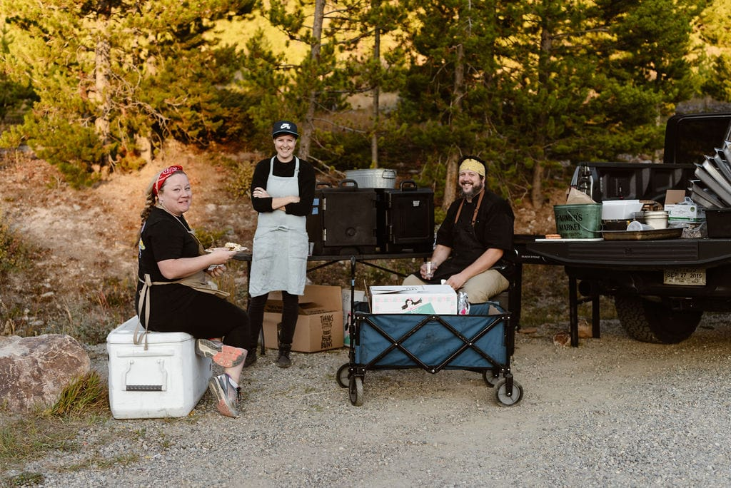 Caterer at Windy Point Campground Wedding Reception