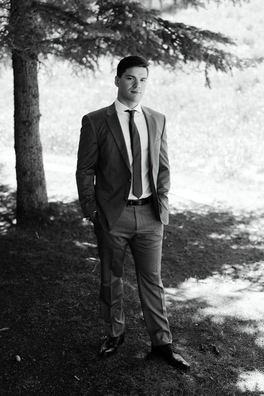 Groom Portraits in Aspen Colorado