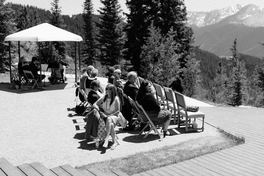 Guests at an Aspen Little Nell Wedding Ceremony