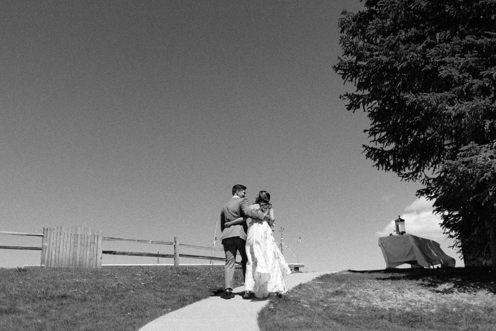 Bride and groom just married at The Little Nell