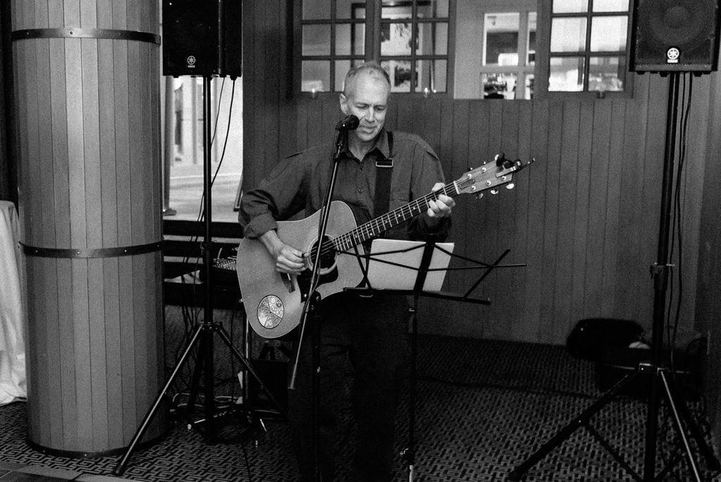 Musician at wedding in Aspen Colorado