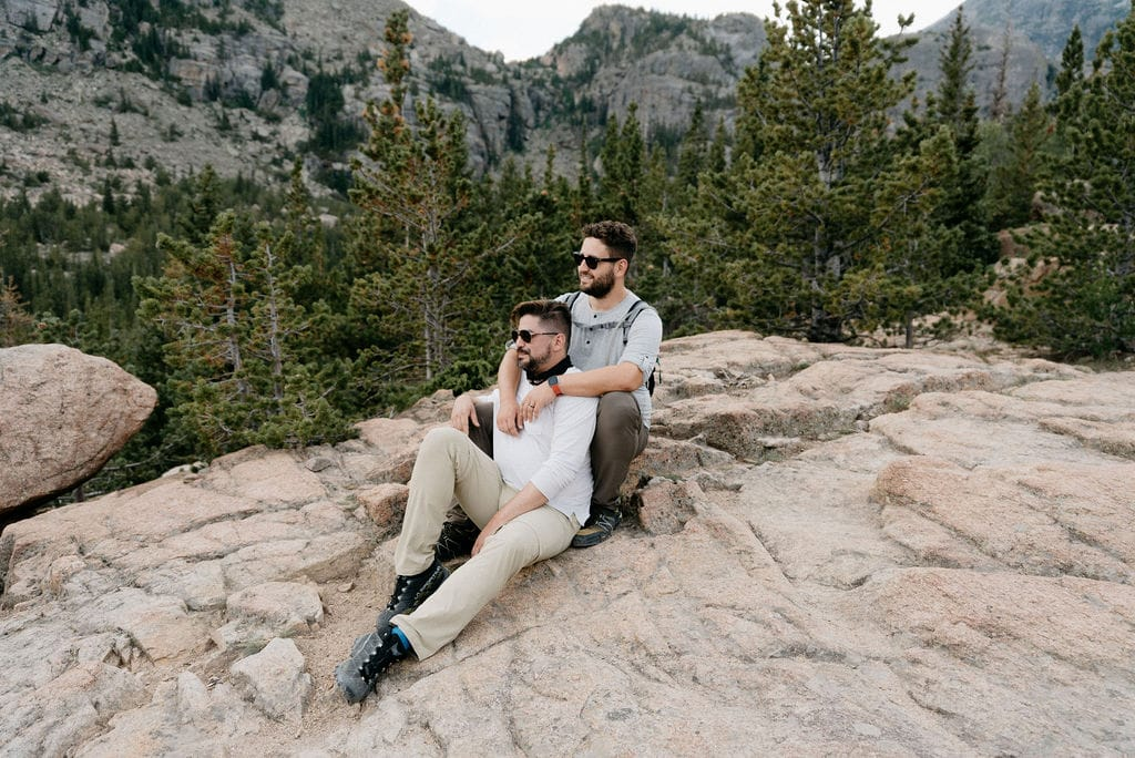 LGBT Couple in Rocky Mountain National Park Colorado