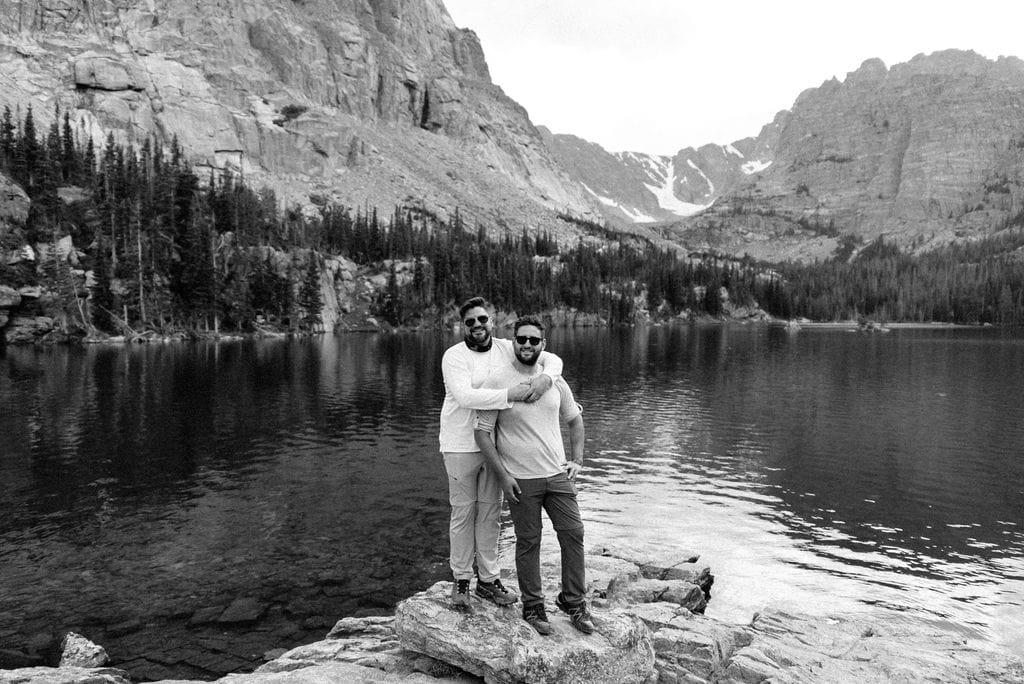 LGBT Couple at Loch Lake RMNP