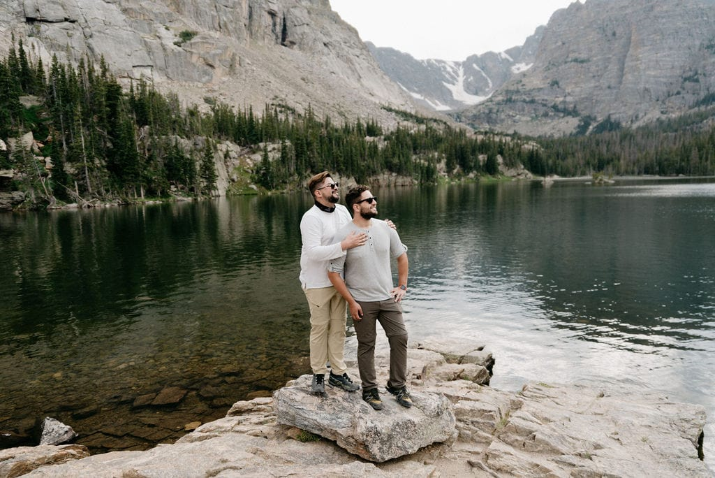 Hiking Colorado Adventure Couples Session in Rocky Mountain National Park