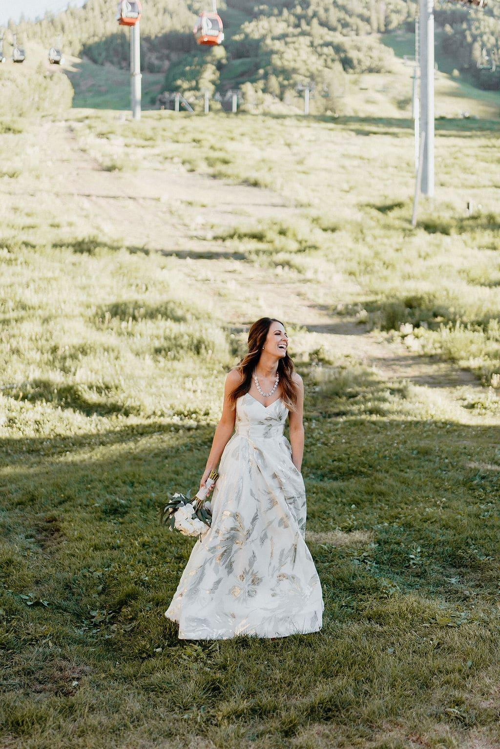 Bride in Aspen Colorado