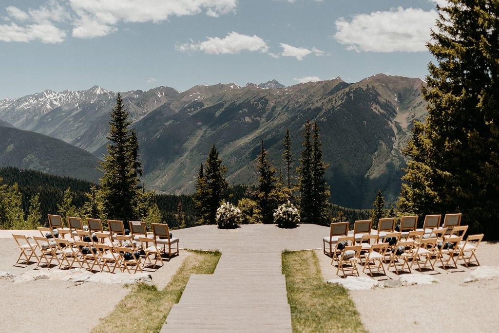 The Little Nell Wedding Ceremony Site in Aspen Colorado