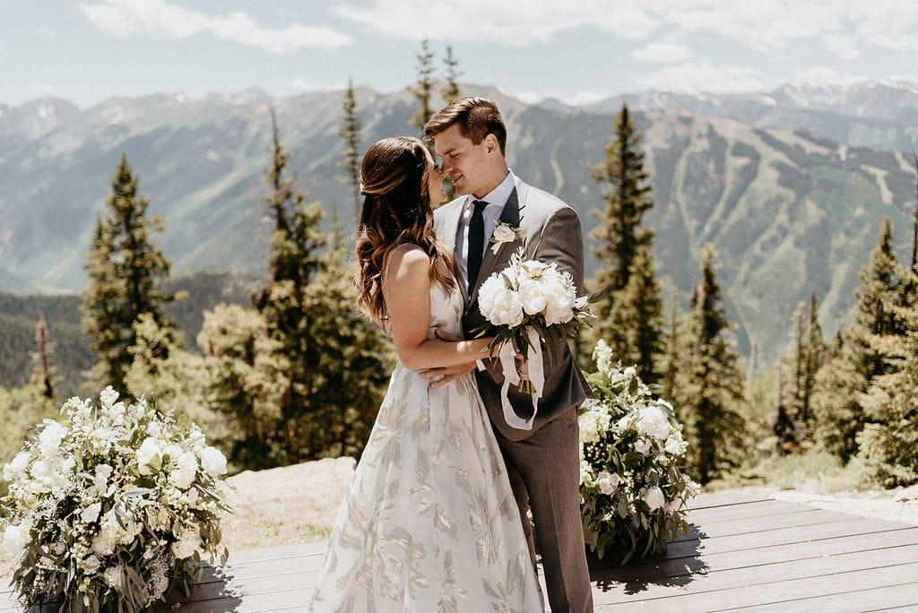 Wedding Couple at The Little Nell Aspen