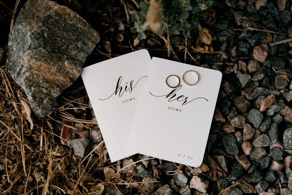 Vow Books used during a colorado wedding in Littleton