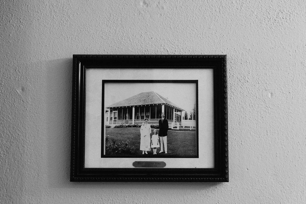 Picture hanging at the carriage house