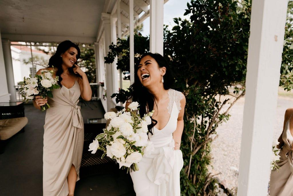 Happy Laughing Bride