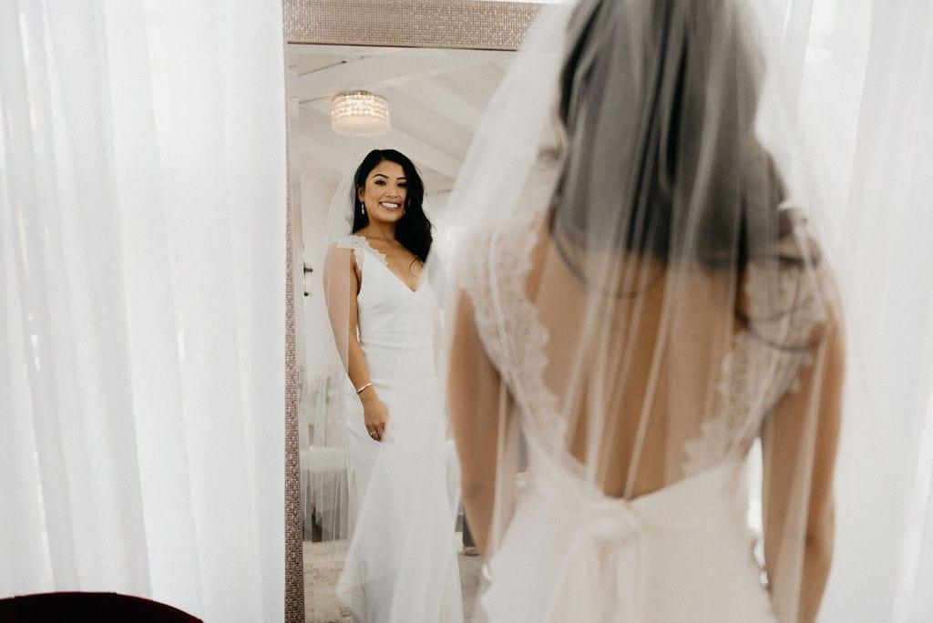 Mom helps bride get ready for her Colorado Wedding