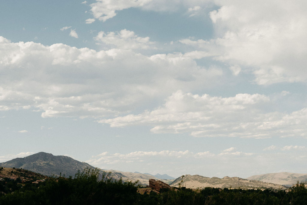 The View of the Foothills from Colorado Wedding
