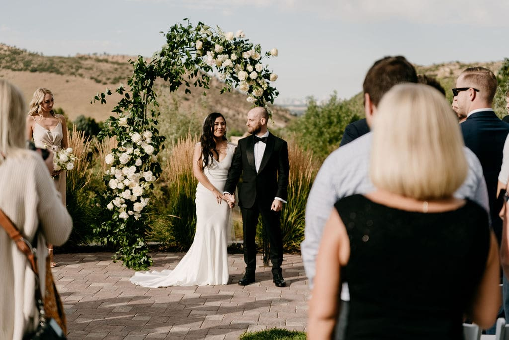 Wedding Ceremony at Best Denver Wedding Venue The Manor House