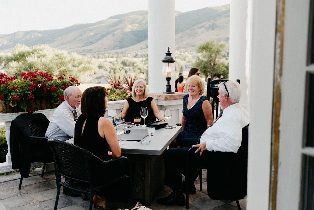 Wedding Cocktail Hour at Colorado Wedding
