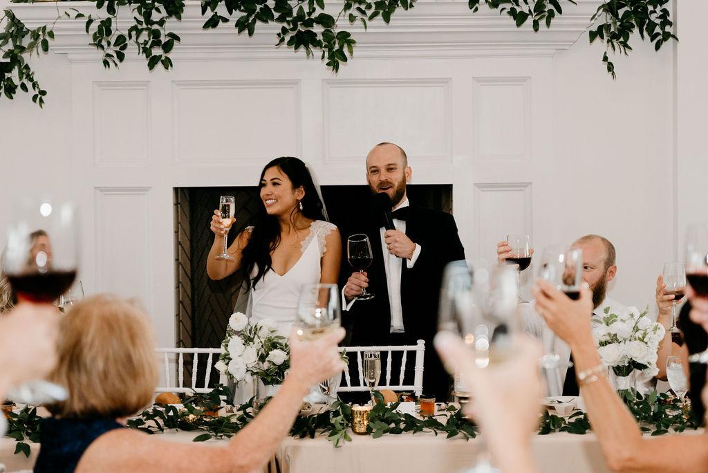The Manor House Wedding Reception Toasts