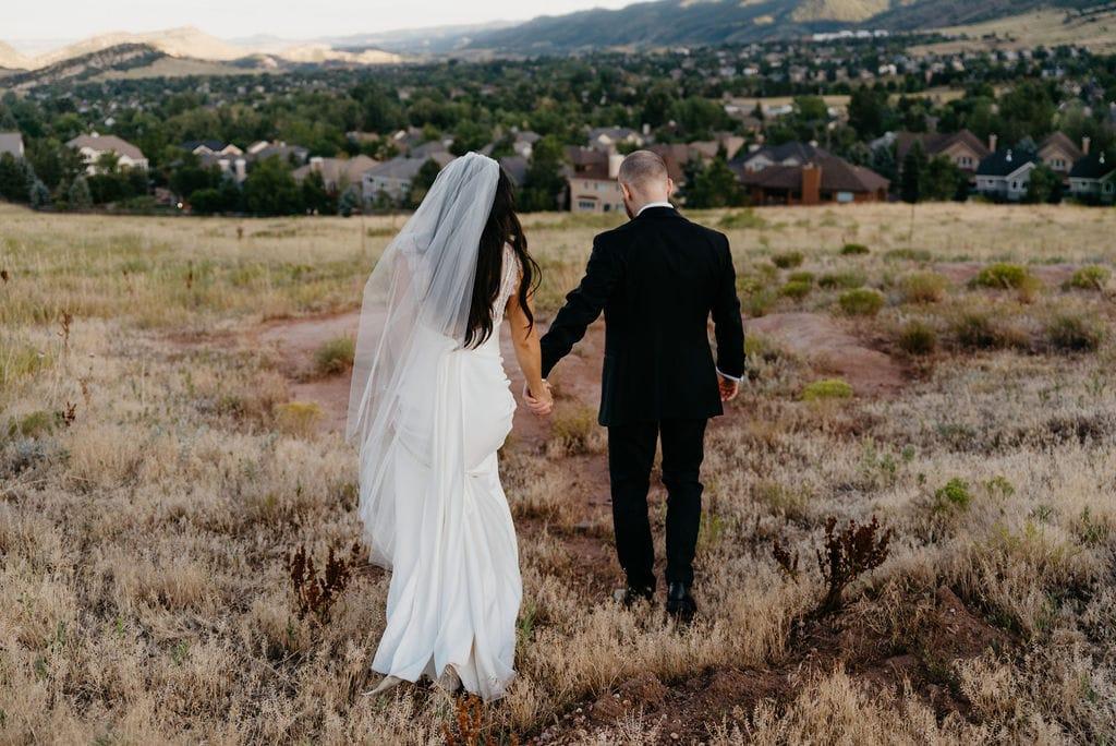 Romantic Bride and Groom in Colorado