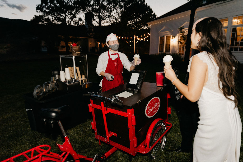 Little Man Ice Cream Caters Wedding at Manor House
