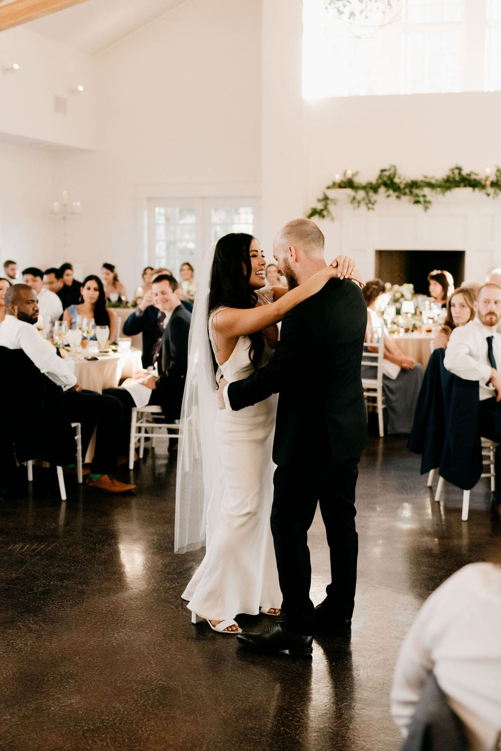 Romantic Manor House Wedding First Dance at Reception