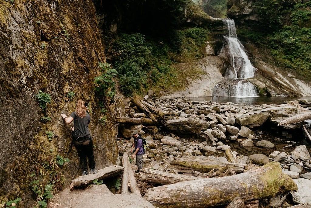 Washington Waterfall Engagement Session