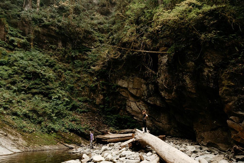 Washington Adventure Hiking Session at Waterfall