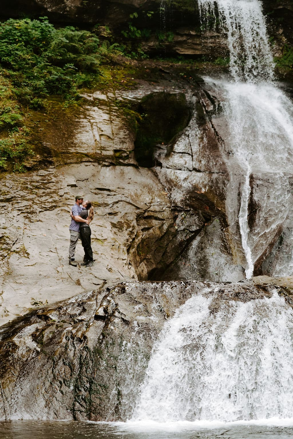 Romantic Waterfall Couples Session in Washington