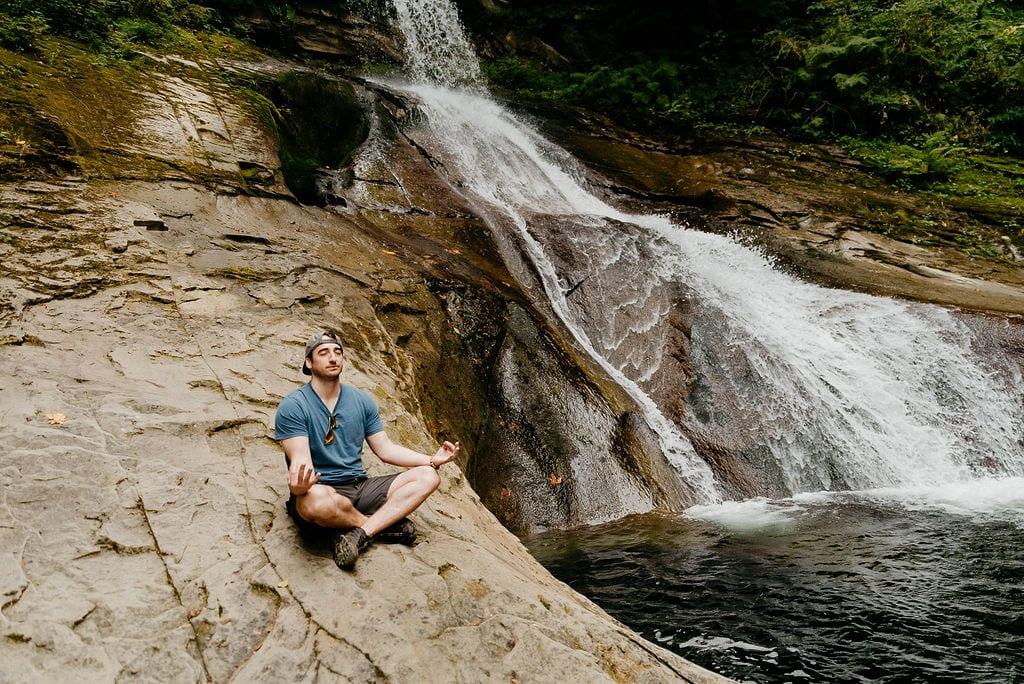 Meditation at Washington Waterfall