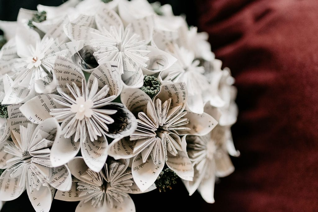 Paper Flower Bouquet made from Harry Potter Book Pages