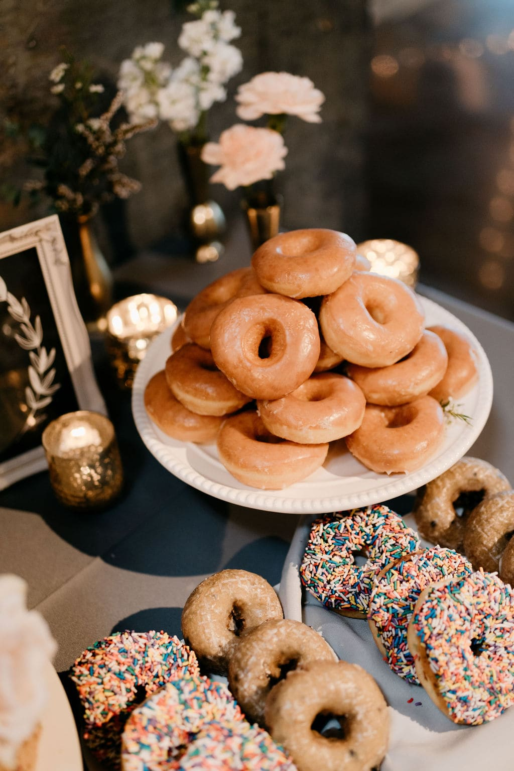 cookies and donuts as wedding desserts