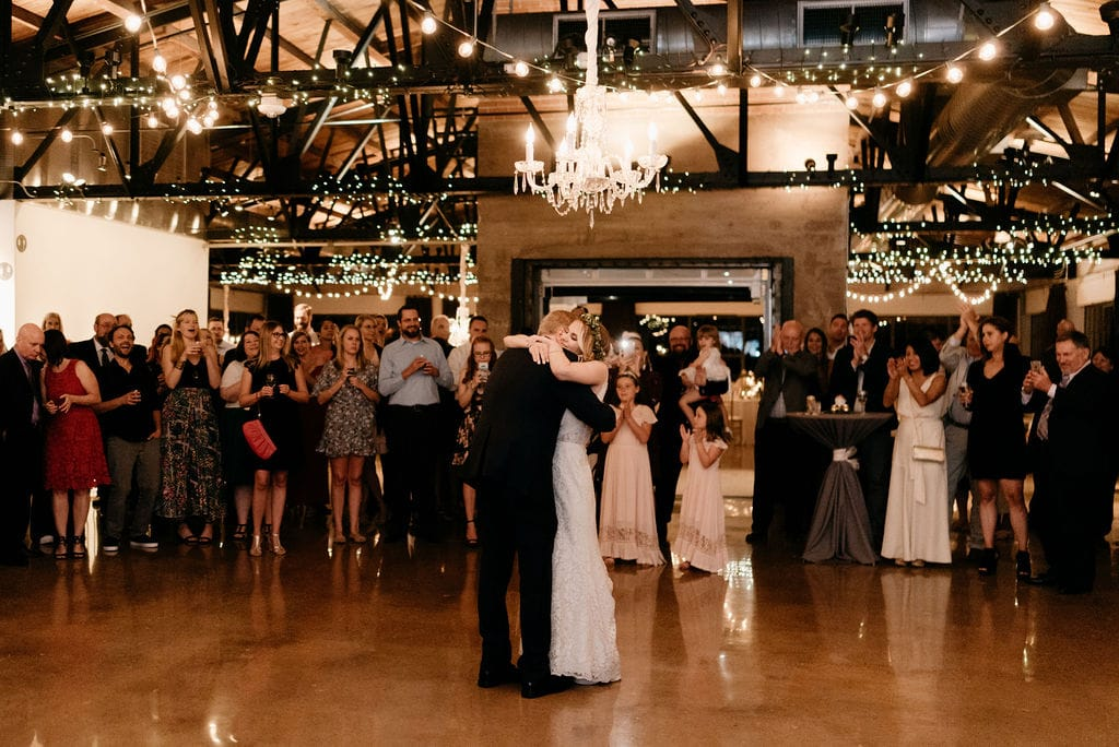 Father Daughter first dance at hickory street annex wedding reception