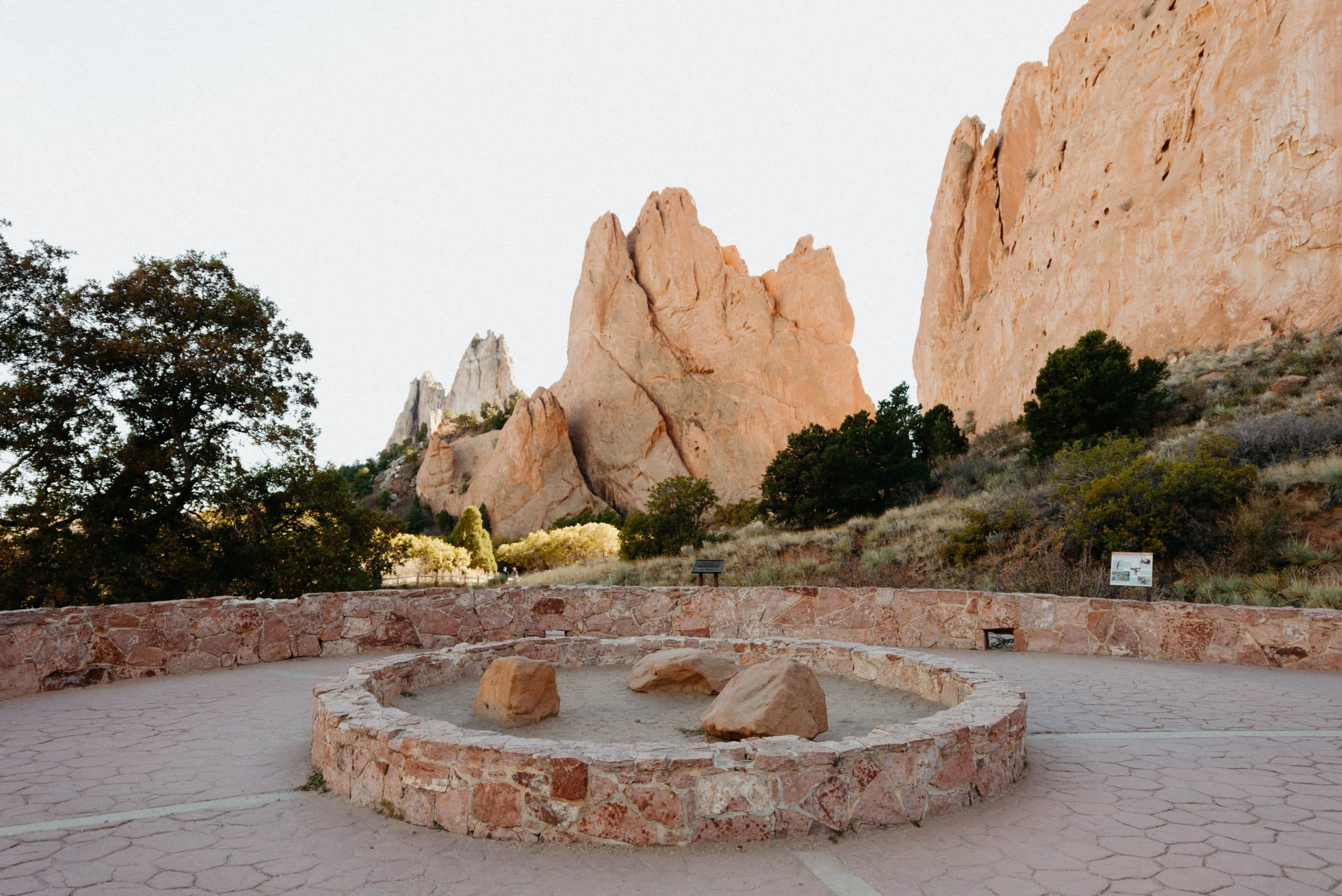 Jaycee Plaza Ceremony Location in Garden of the Gods