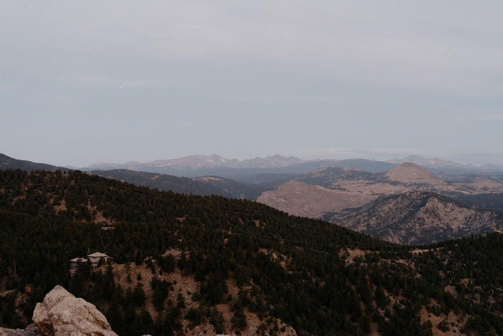 Continental Divide at Sunrise from Boulder